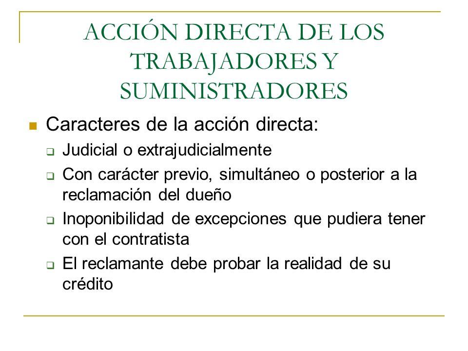 ACCIÓN DIRECTA DE LOS TRABAJADORES Y SUMINISTRADORES