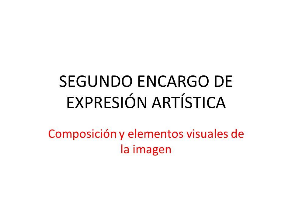 SEGUNDO ENCARGO DE EXPRESIÓN ARTÍSTICA