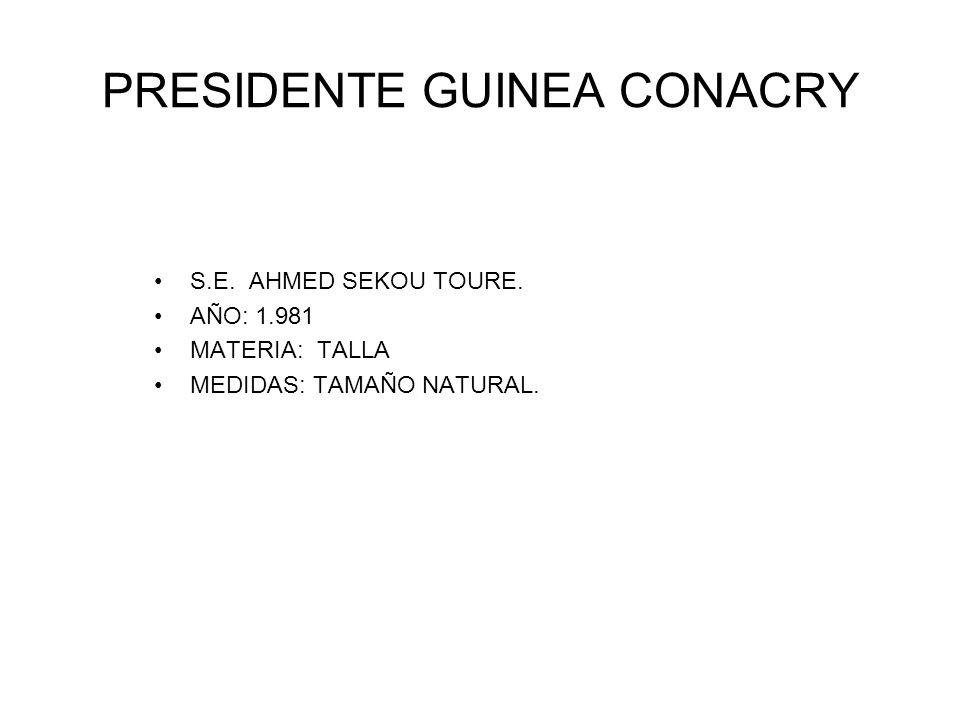 PRESIDENTE GUINEA CONACRY
