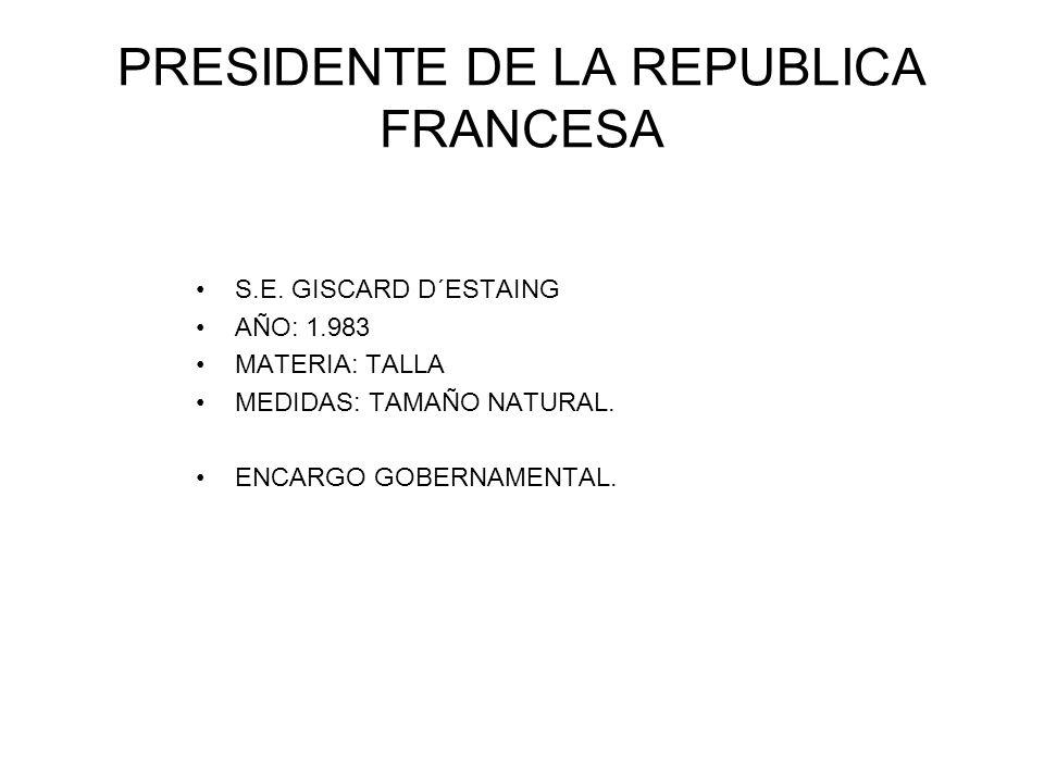 PRESIDENTE DE LA REPUBLICA FRANCESA