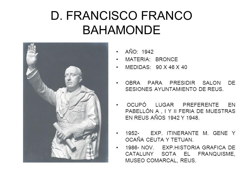 D. FRANCISCO FRANCO BAHAMONDE