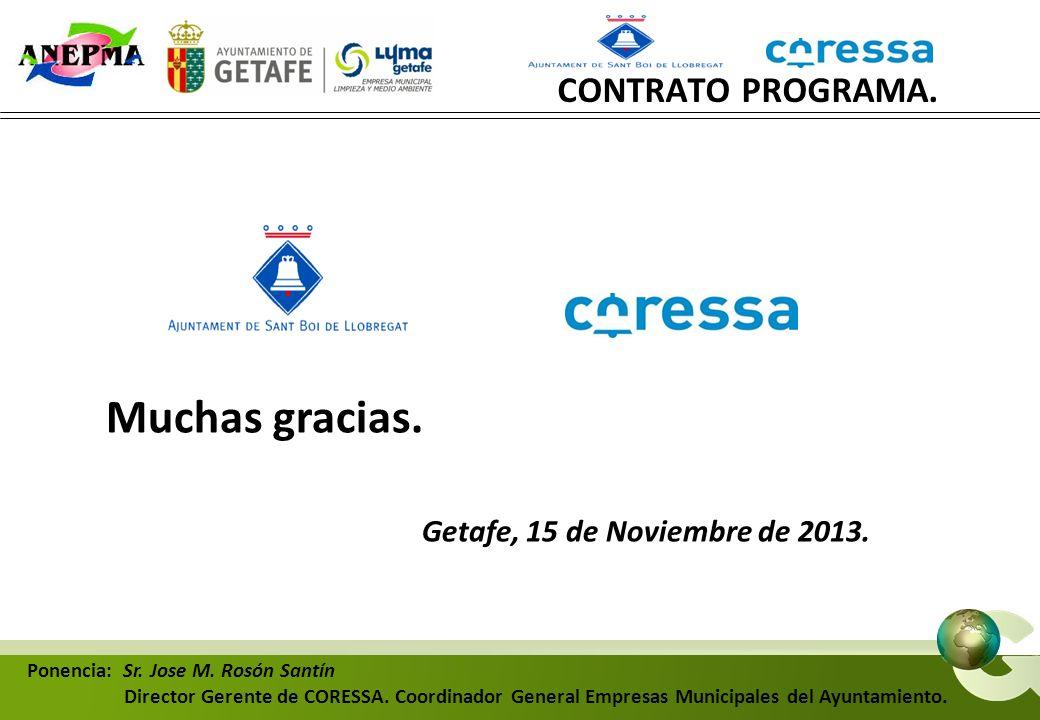 Muchas gracias. Getafe, 15 de Noviembre de 2013.