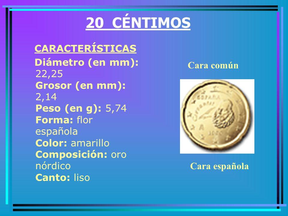 20 CÉNTIMOS CARACTERÍSTICAS