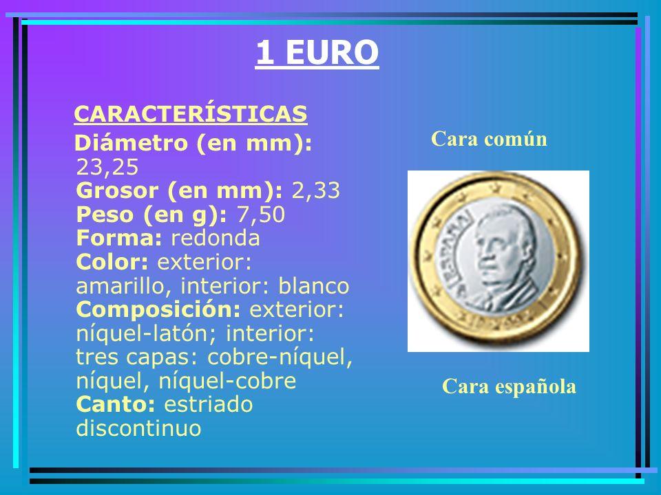 1 EURO CARACTERÍSTICAS.