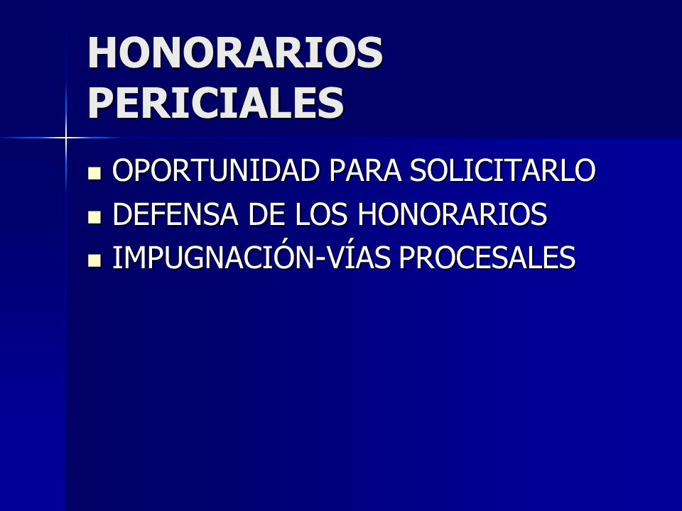 HONORARIOS PERICIALES