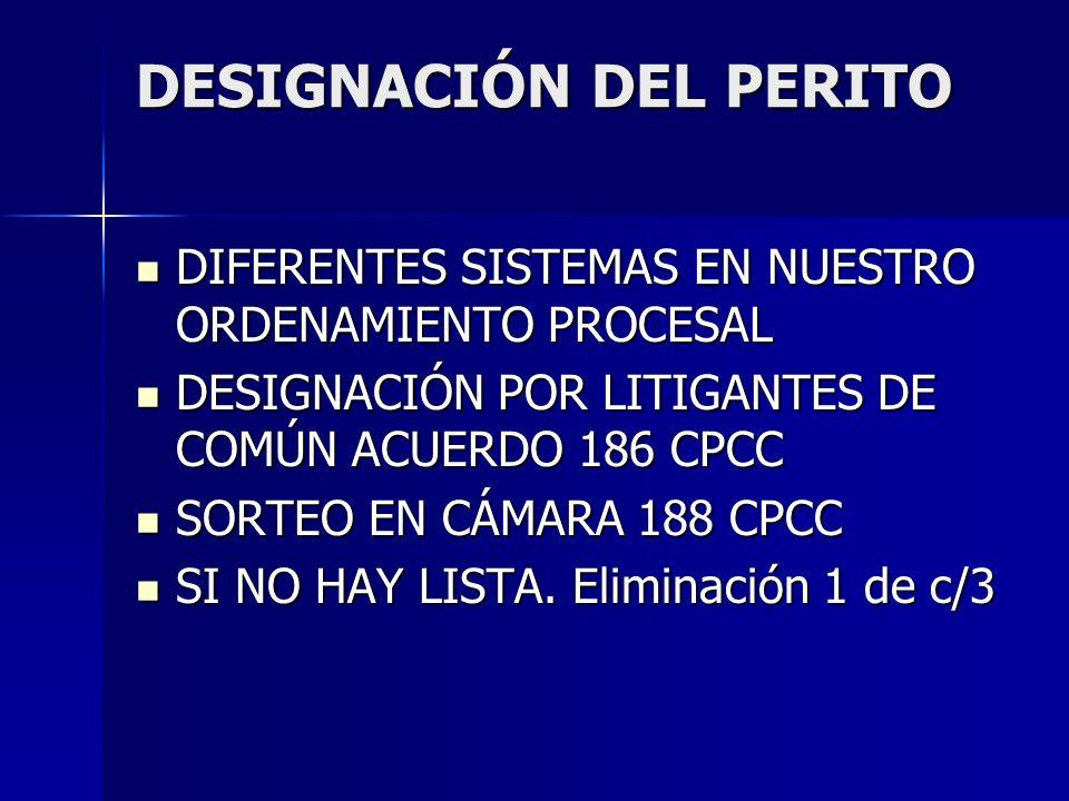 DESIGNACIÓN DEL PERITO