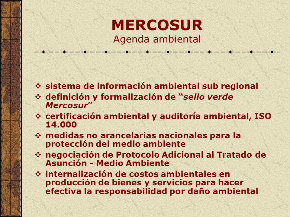 MERCOSUR Agenda ambiental