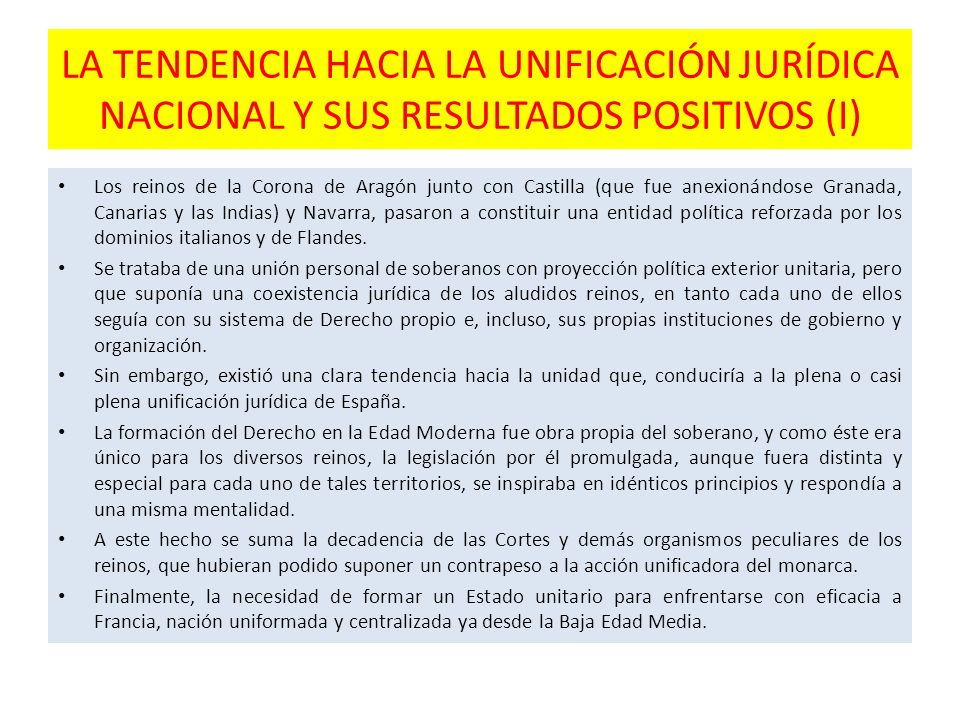LA TENDENCIA HACIA LA UNIFICACIÓN JURÍDICA NACIONAL Y SUS RESULTADOS POSITIVOS (I)