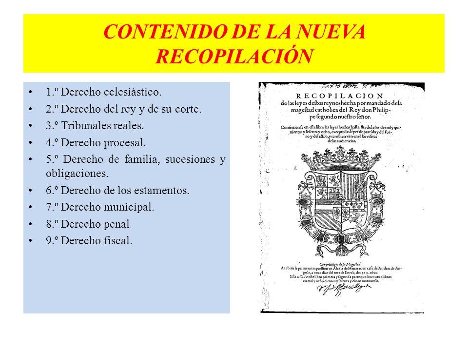 CONTENIDO DE LA NUEVA RECOPILACIÓN