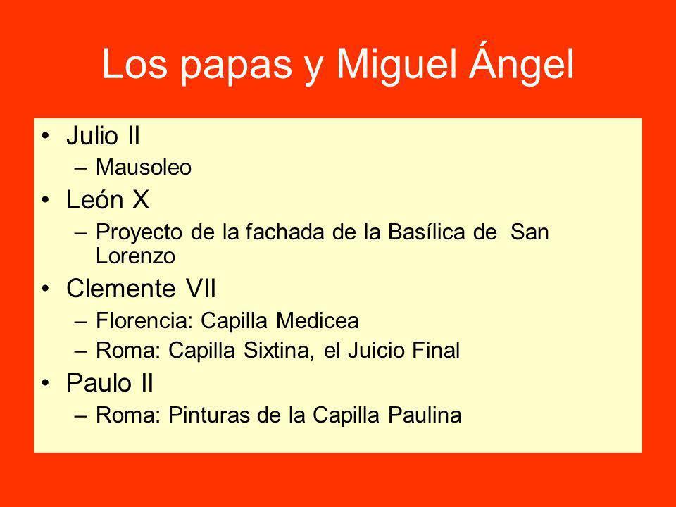 Los papas y Miguel Ángel