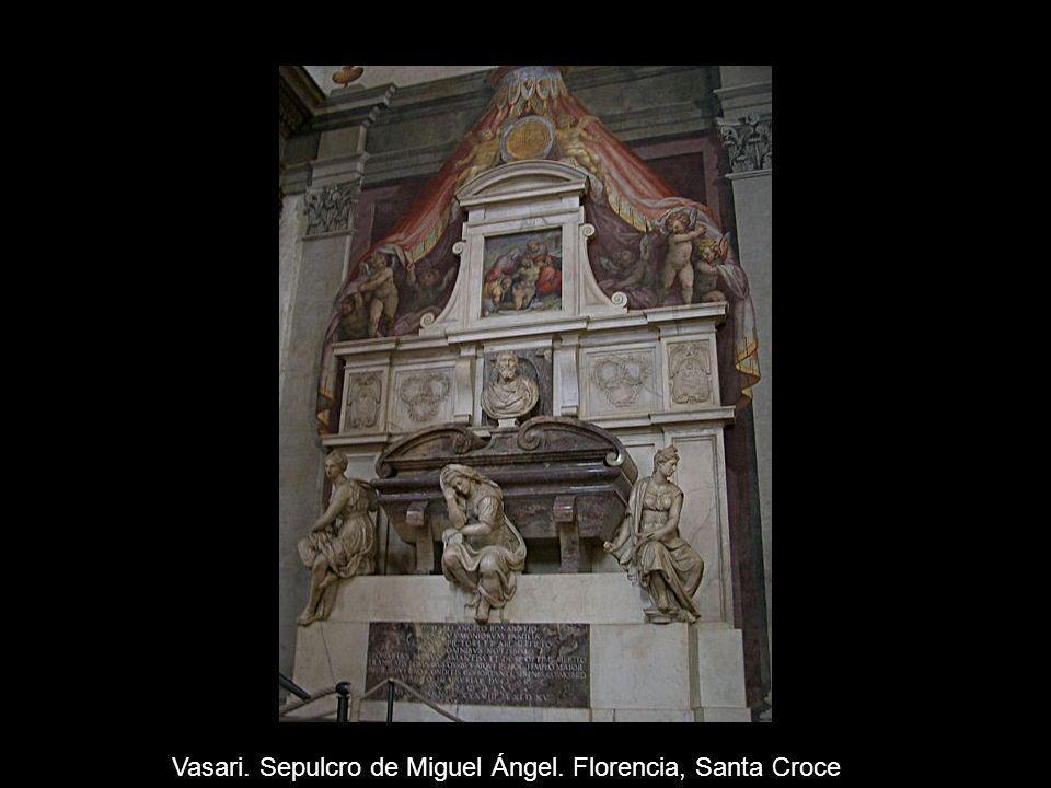 Vasari. Sepulcro de Miguel Ángel. Florencia, Santa Croce