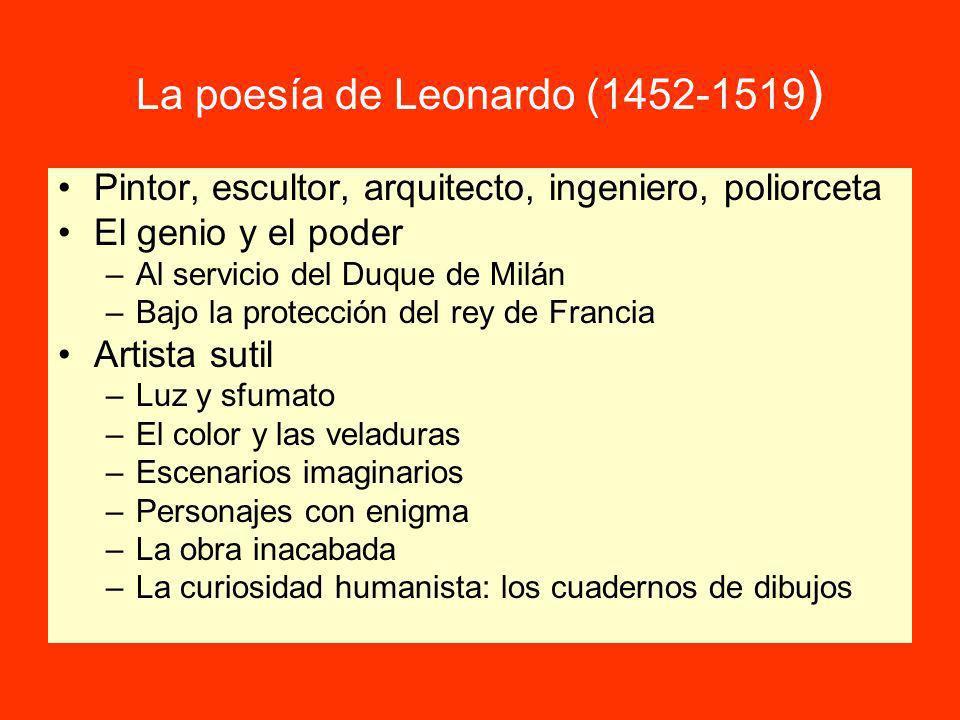 La poesía de Leonardo (1452-1519)