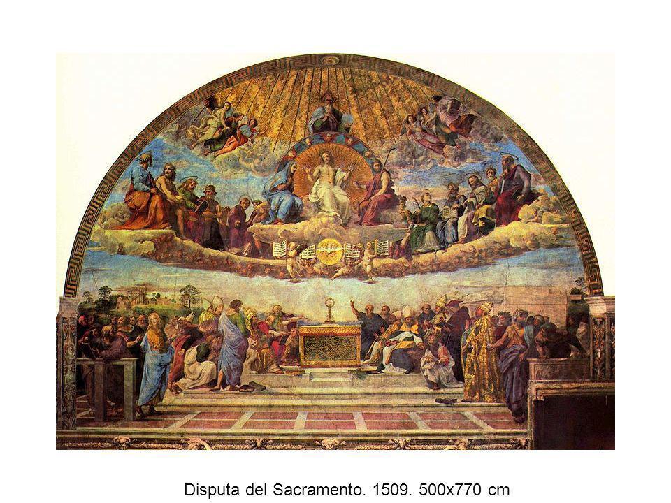 Disputa del Sacramento. 1509. 500x770 cm