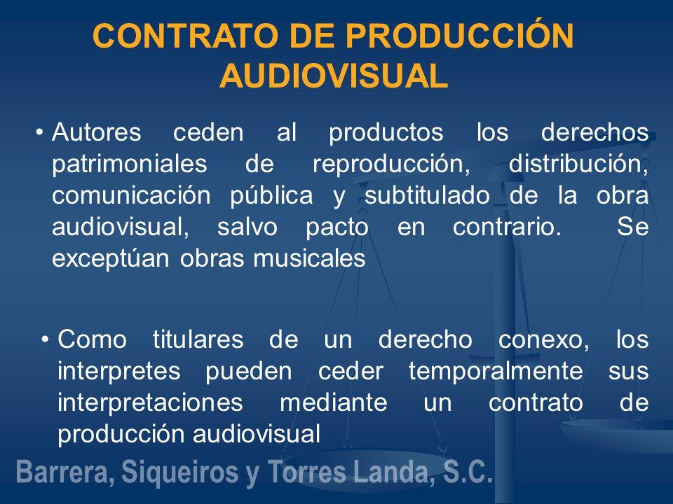 CONTRATO DE PRODUCCIÓN AUDIOVISUAL