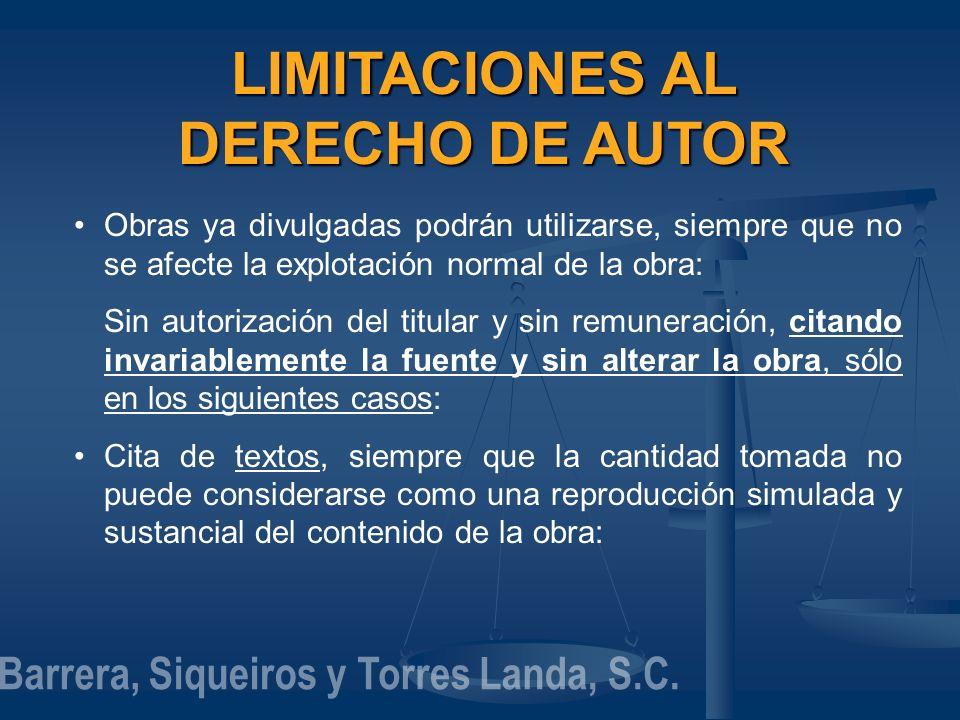 LIMITACIONES AL DERECHO DE AUTOR