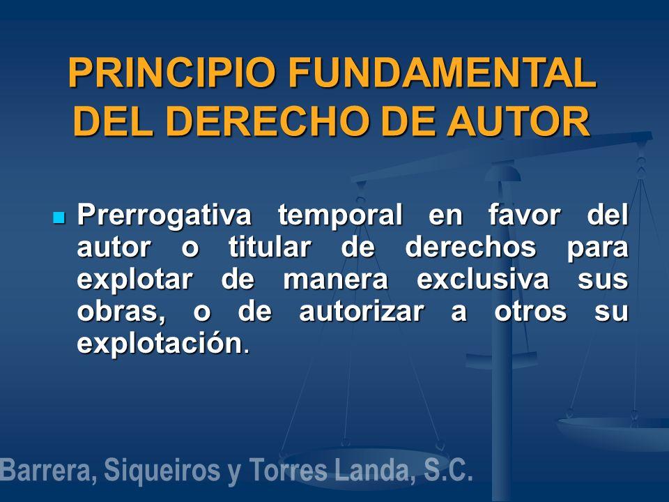 PRINCIPIO FUNDAMENTAL DEL DERECHO DE AUTOR
