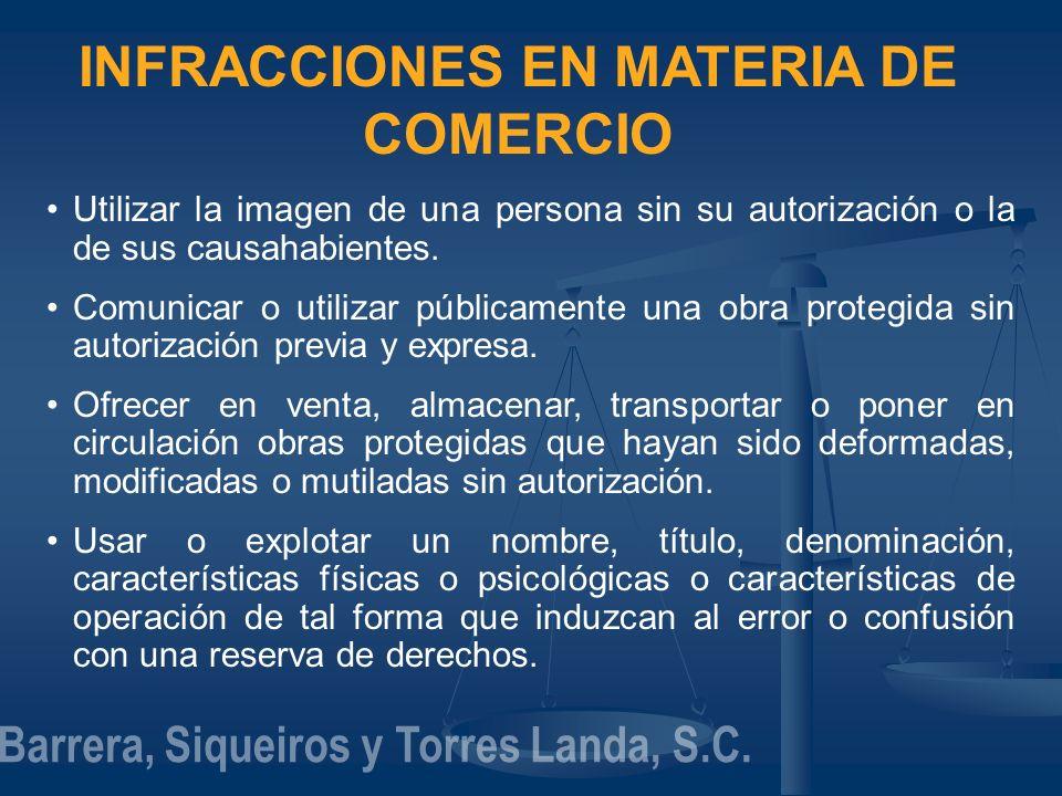 INFRACCIONES EN MATERIA DE COMERCIO