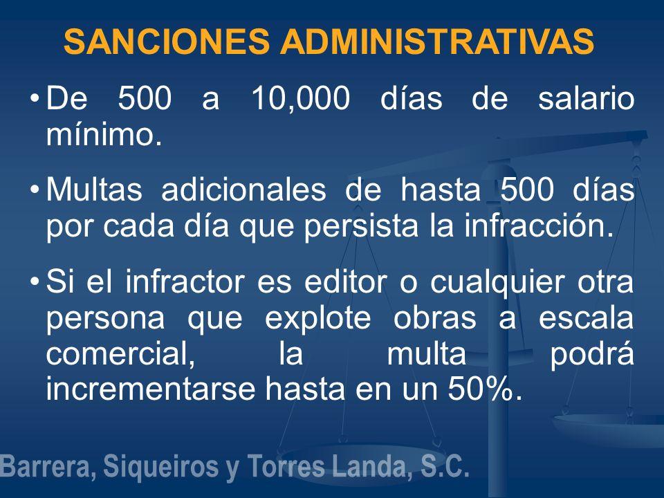 SANCIONES ADMINISTRATIVAS Barrera, Siqueiros y Torres Landa, S.C.