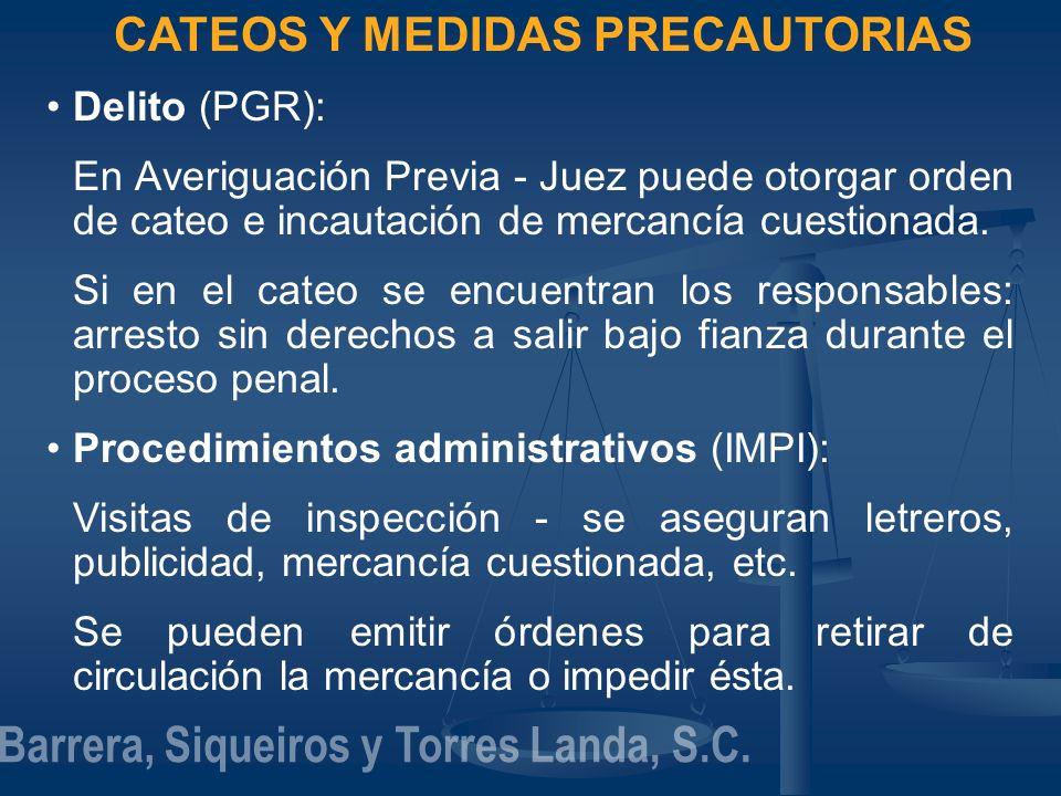 CATEOS Y MEDIDAS PRECAUTORIAS Barrera, Siqueiros y Torres Landa, S.C.