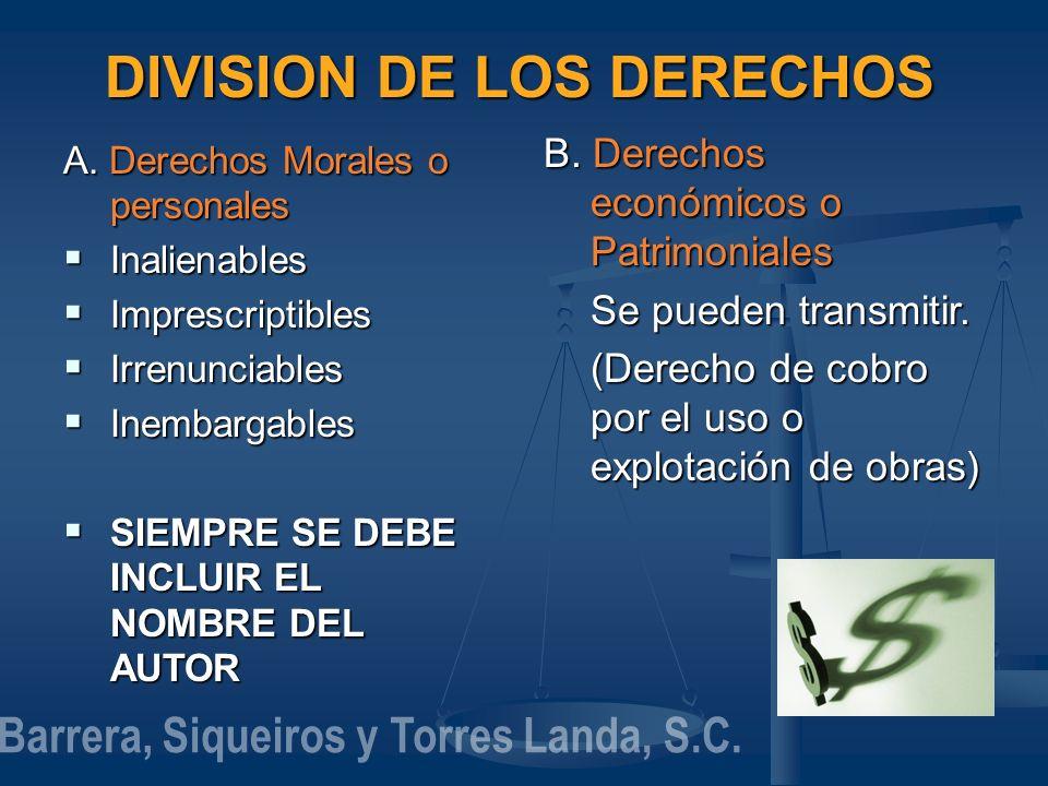 DIVISION DE LOS DERECHOS Barrera, Siqueiros y Torres Landa, S.C.