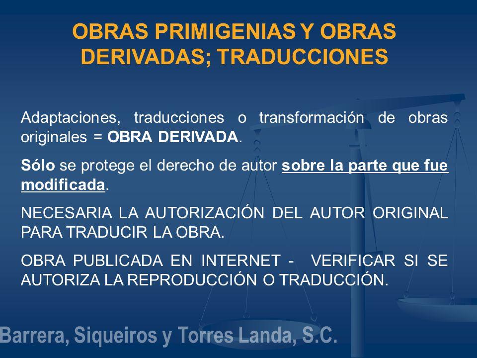 OBRAS PRIMIGENIAS Y OBRAS DERIVADAS; TRADUCCIONES
