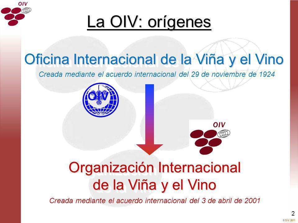 La OIV: orígenes Oficina Internacional de la Viña y el Vino