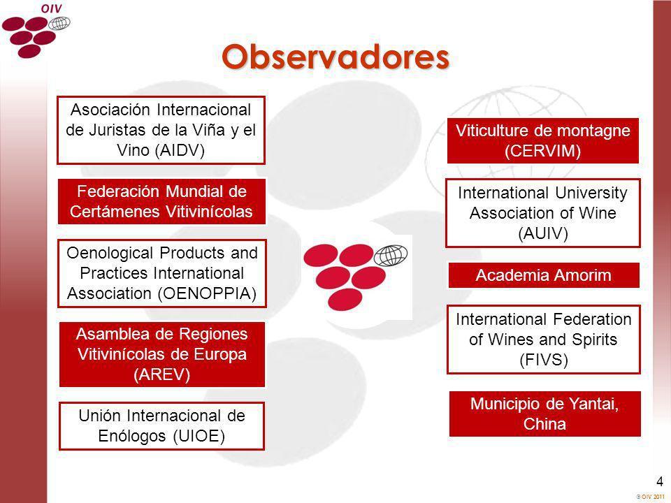 Observadores Asociación Internacional de Juristas de la Viña y el Vino (AIDV) Viticulture de montagne (CERVIM)