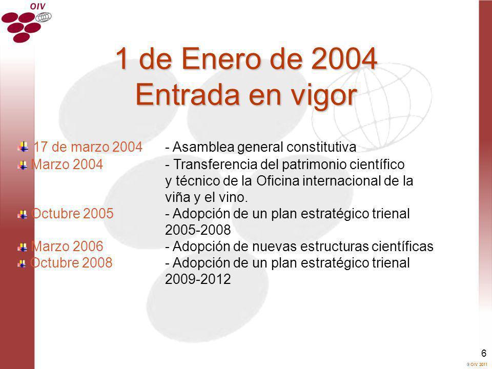 1 de Enero de 2004 Entrada en vigor