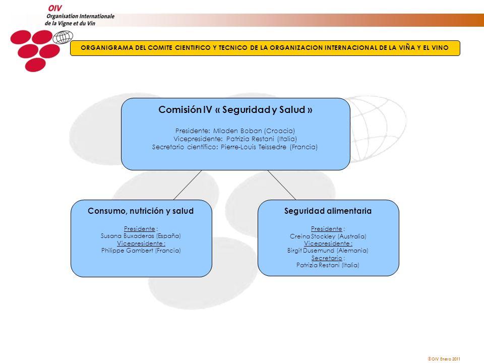 Comisión IV « Seguridad y Salud »
