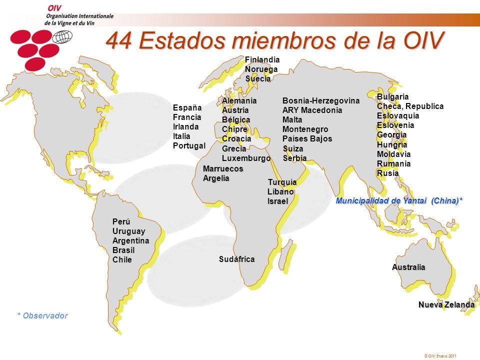 44 Estados miembros de la OIV