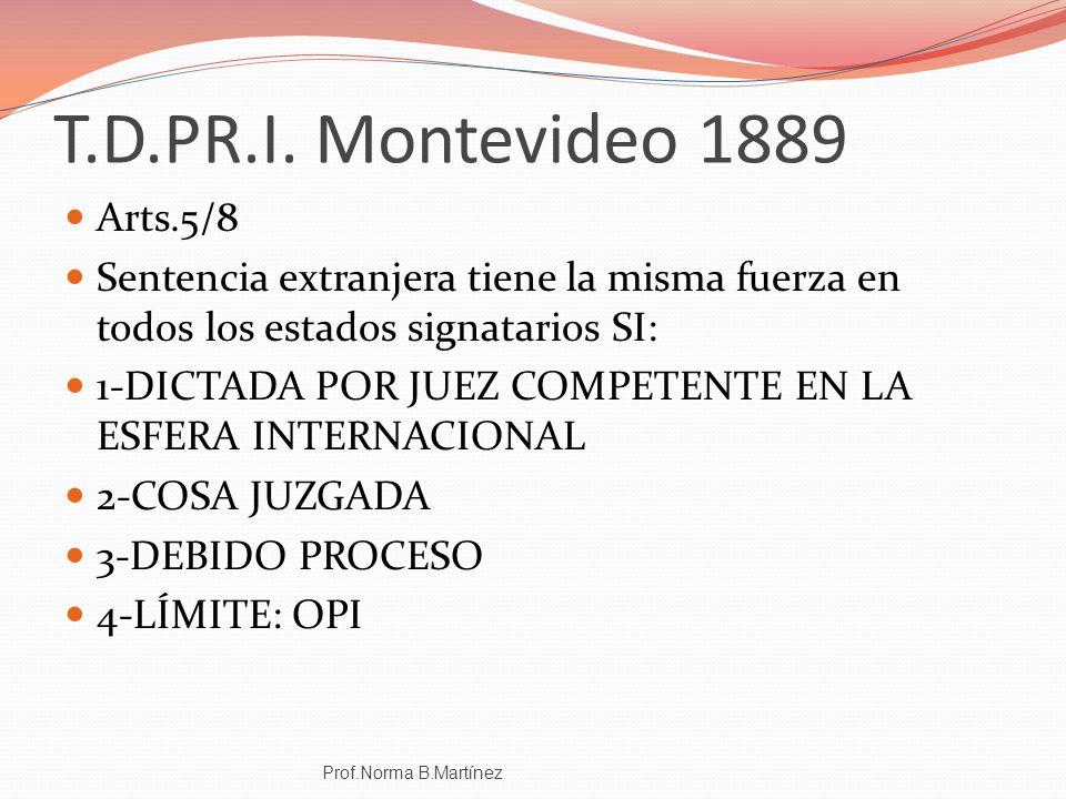 T.D.PR.I. Montevideo 1889 Arts.5/8