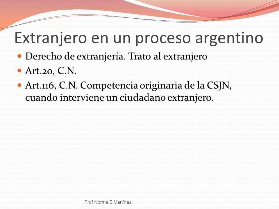 Extranjero en un proceso argentino