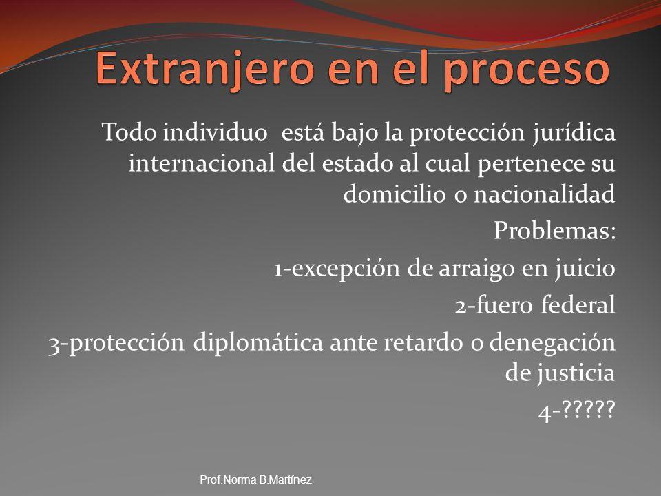 Extranjero en el proceso