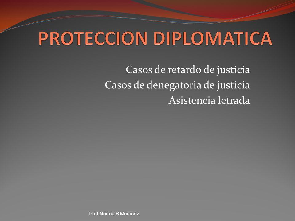PROTECCION DIPLOMATICA