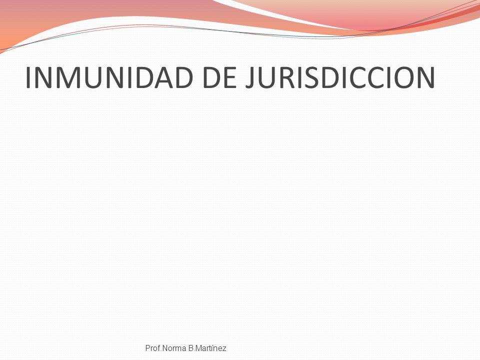 INMUNIDAD DE JURISDICCION