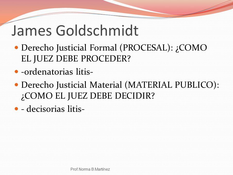 James Goldschmidt Derecho Justicial Formal (PROCESAL): ¿COMO EL JUEZ DEBE PROCEDER -ordenatorias litis-