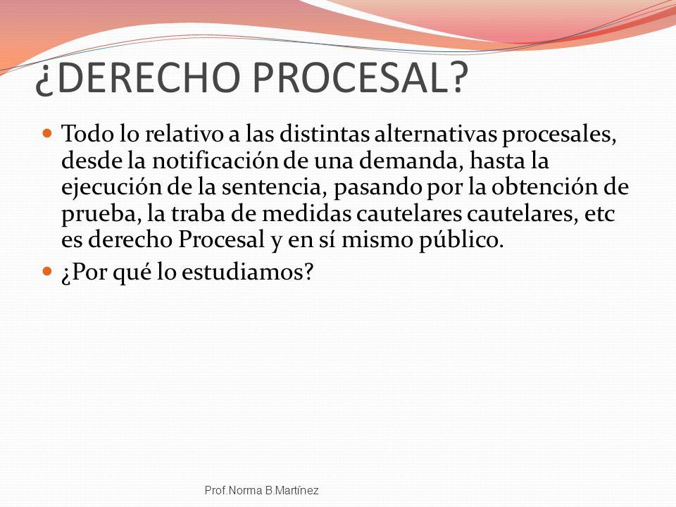 ¿DERECHO PROCESAL