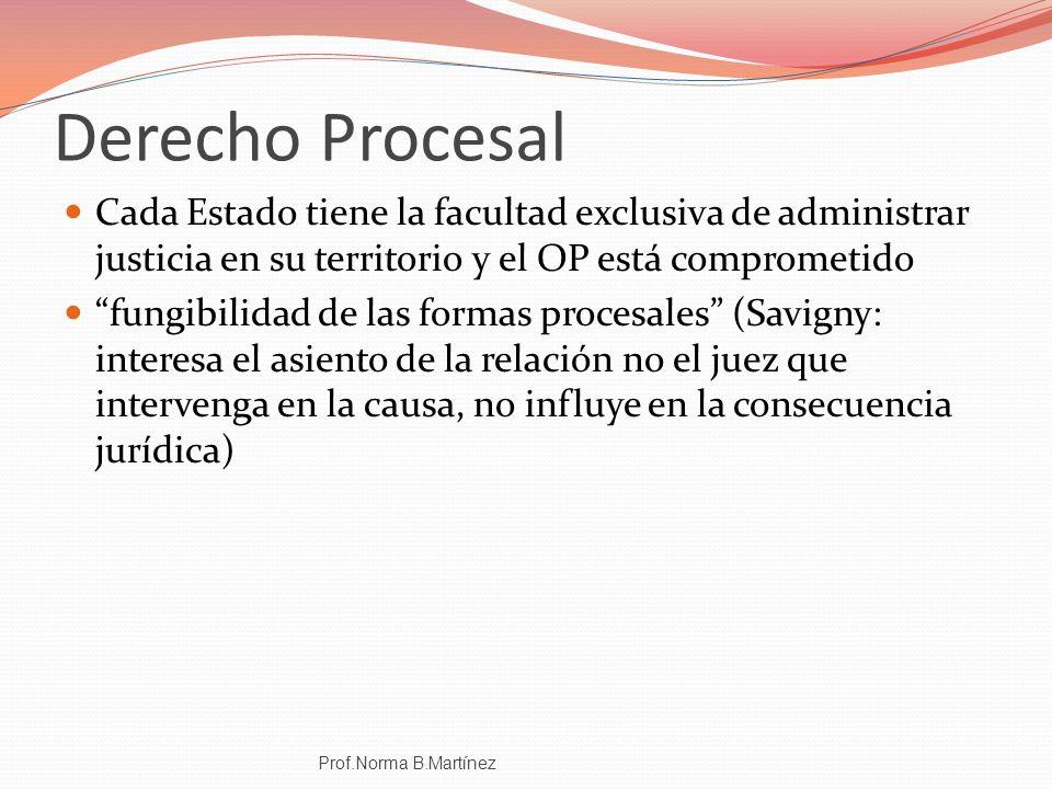 Derecho Procesal Cada Estado tiene la facultad exclusiva de administrar justicia en su territorio y el OP está comprometido.