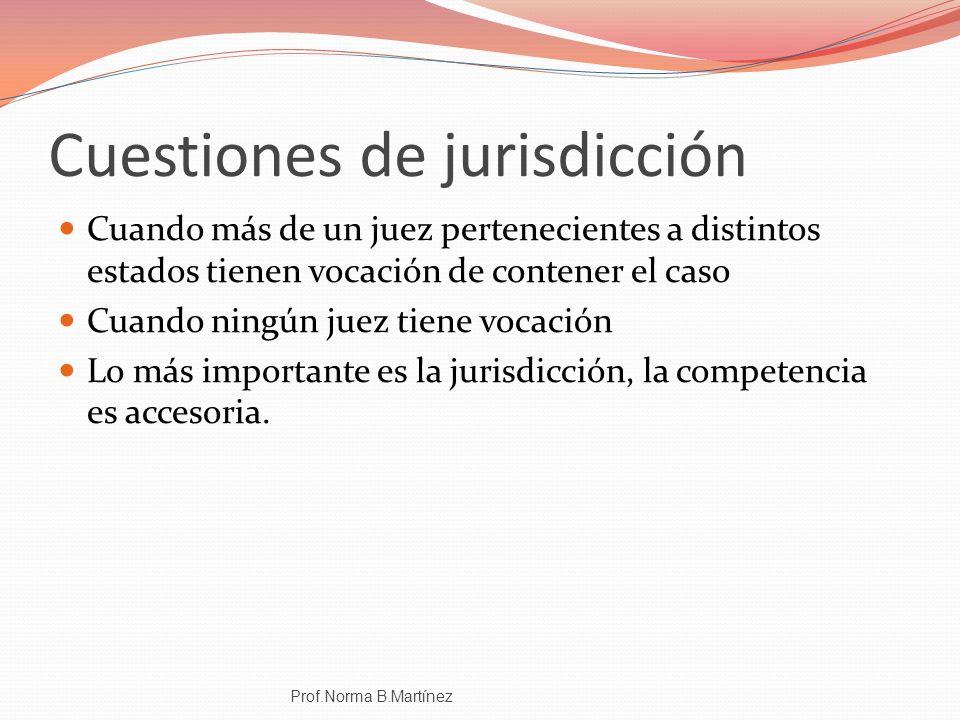 Cuestiones de jurisdicción
