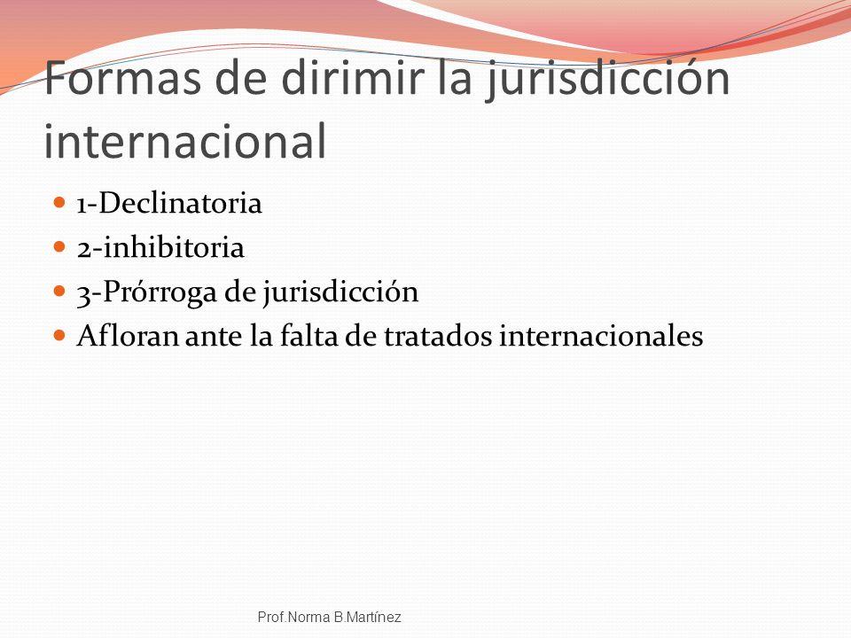 Formas de dirimir la jurisdicción internacional
