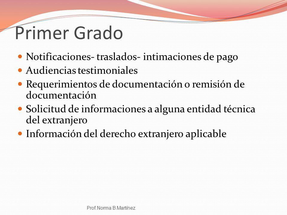 Primer Grado Notificaciones- traslados- intimaciones de pago