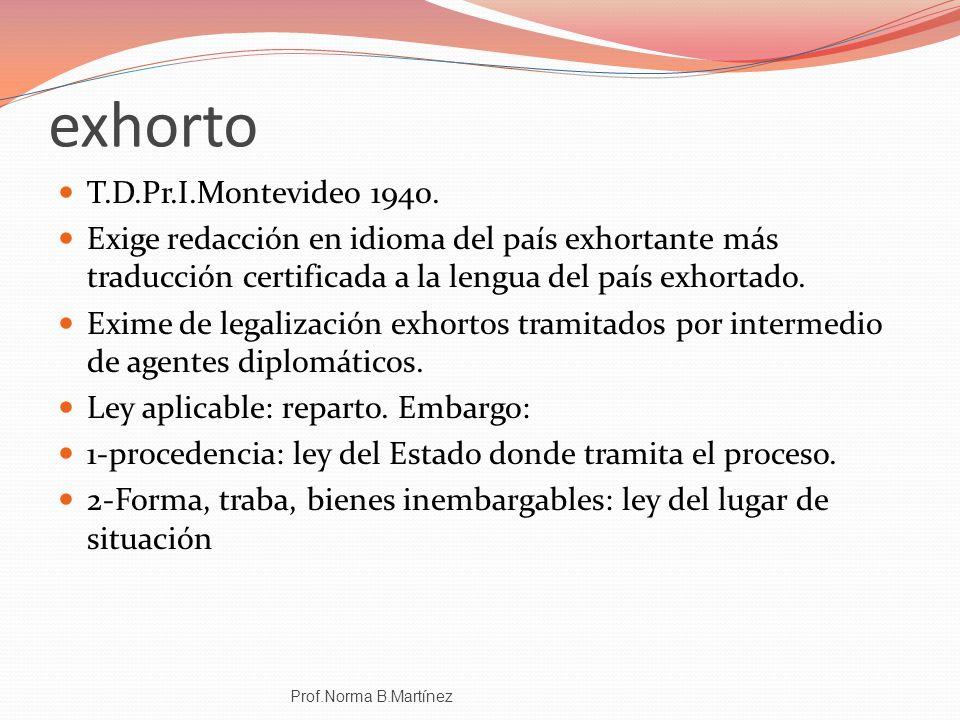 exhorto T.D.Pr.I.Montevideo 1940.
