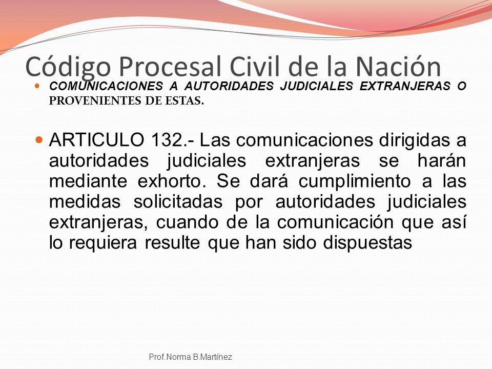 Código Procesal Civil de la Nación