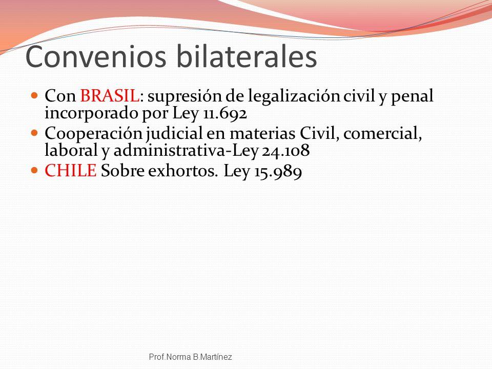 Convenios bilaterales
