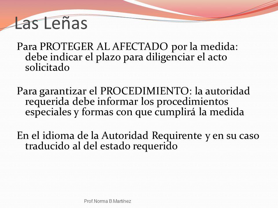 Las Leñas Para PROTEGER AL AFECTADO por la medida: debe indicar el plazo para diligenciar el acto solicitado.