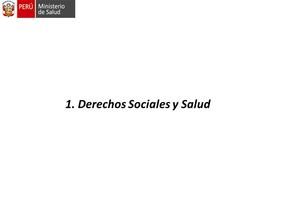 1. Derechos Sociales y Salud