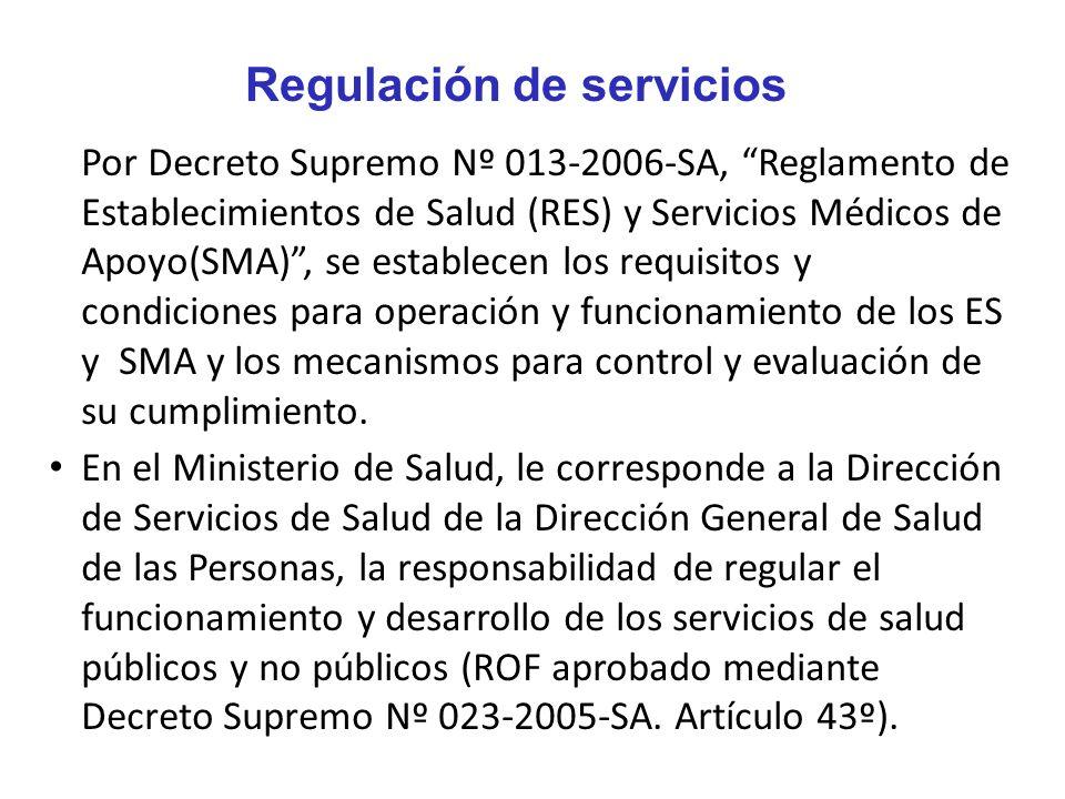 Regulación de servicios