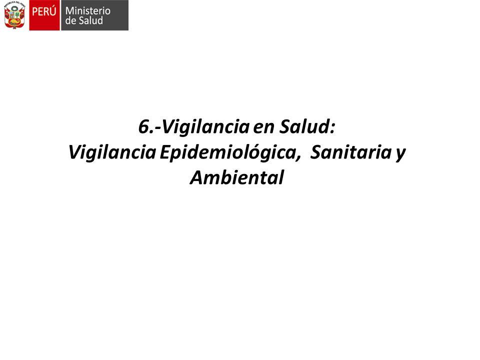 6.-Vigilancia en Salud: Vigilancia Epidemiológica, Sanitaria y Ambiental