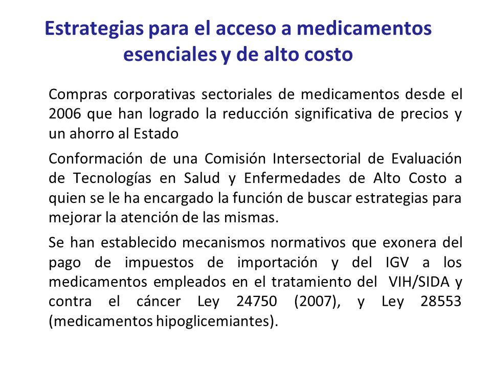 Estrategias para el acceso a medicamentos esenciales y de alto costo