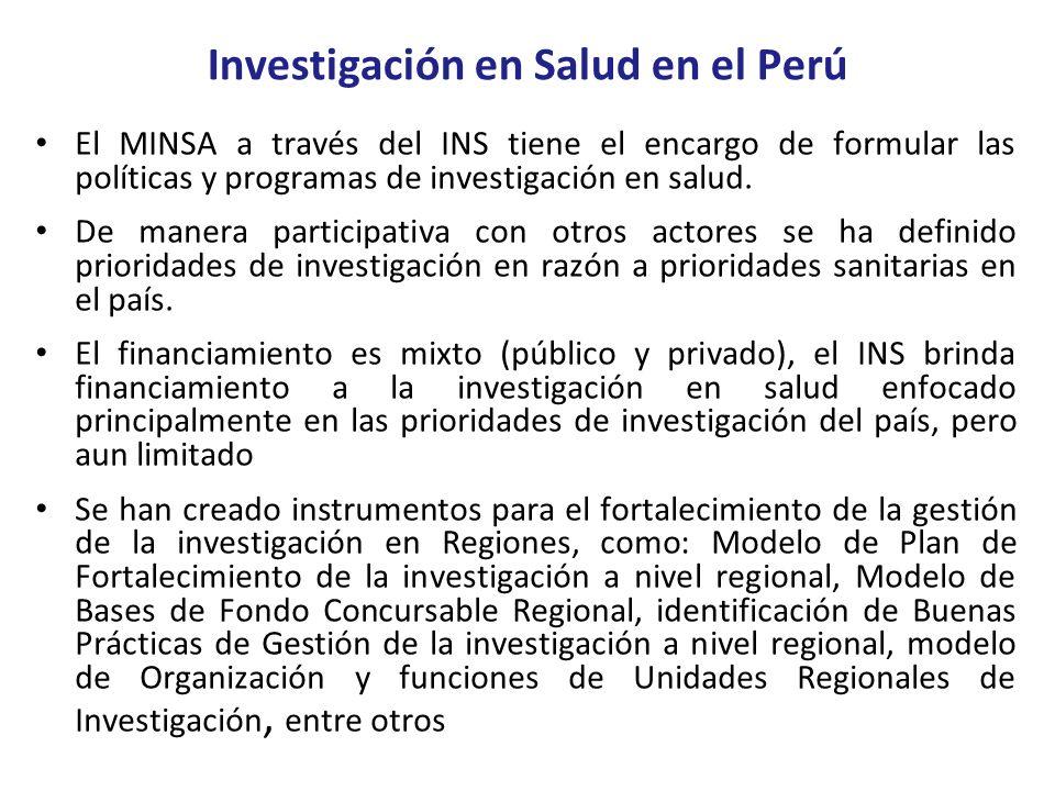 Investigación en Salud en el Perú